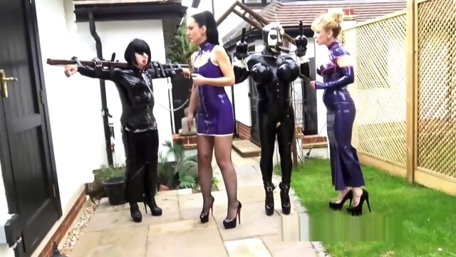 Transdolls walking latex bdsm fetish hd