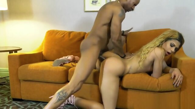 Ebony Lingerie Tgirl Assfucked.. amateur ebony guy fucks shemale