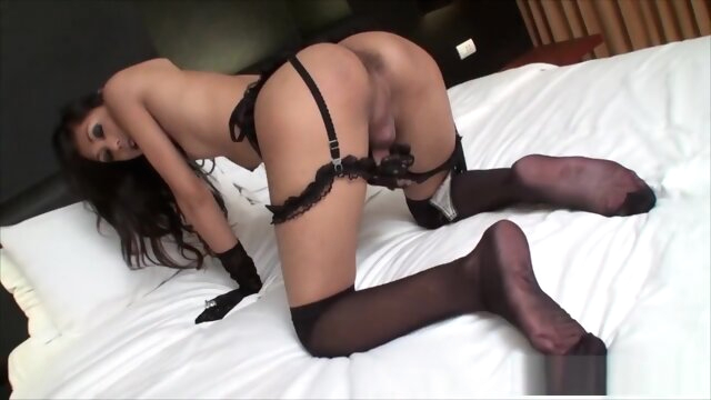 Uncut Thai Ladyboy In Stockings asian big cock hd