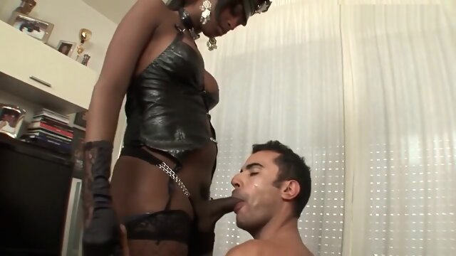 Big Dick Ebony Mistress big cock big tits domination