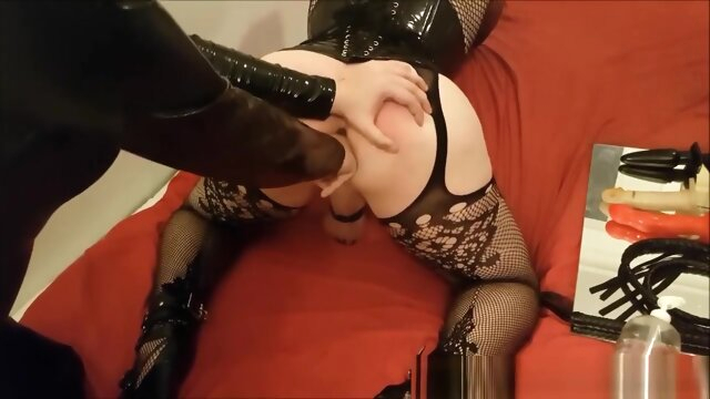 Sissy slave spanked and finger.. amateur bdsm big ass